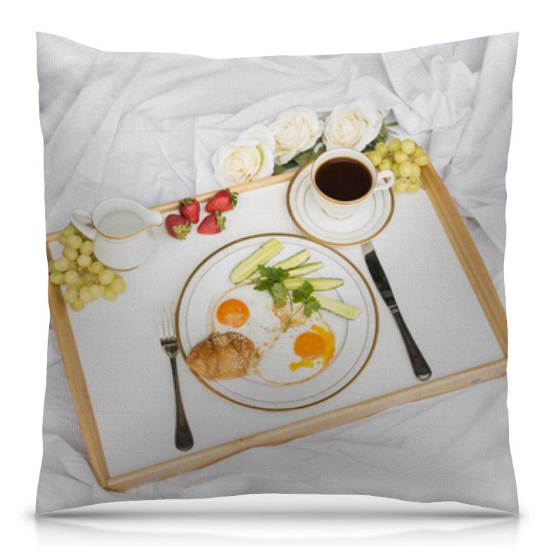 Подушка 40х40 с полной запечаткой Printio Утренний завтрак утренний свет m