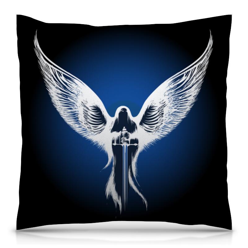 Подушка 40х40 с полной запечаткой Printio Ангел анатолий ярмолюк поспорил ангел с демоном