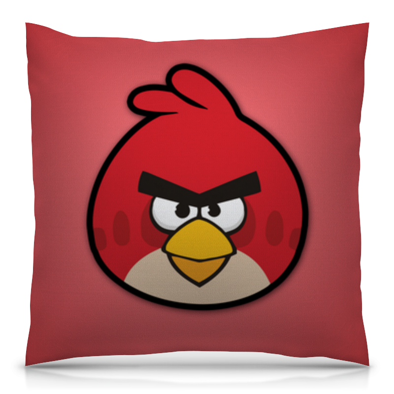 Подушка 40х40 с полной запечаткой Printio Angry birds