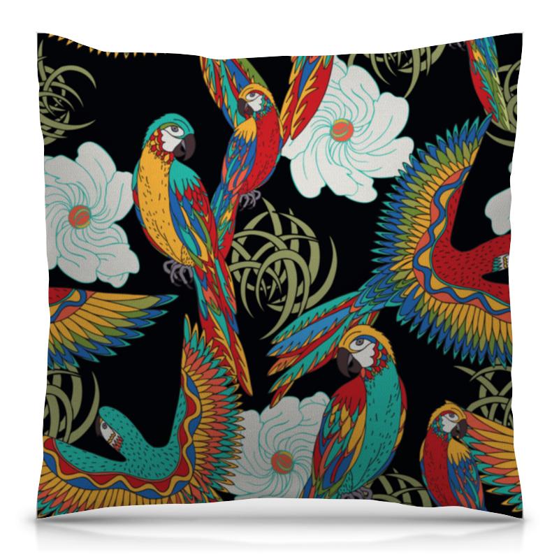 Подушка 40х40 с полной запечаткой Printio Попугаи попугаи розелла фото москва