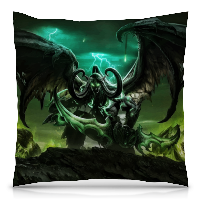 Подушка 40х40 с полной запечаткой Printio World of warcraft world of warcraft dark riders