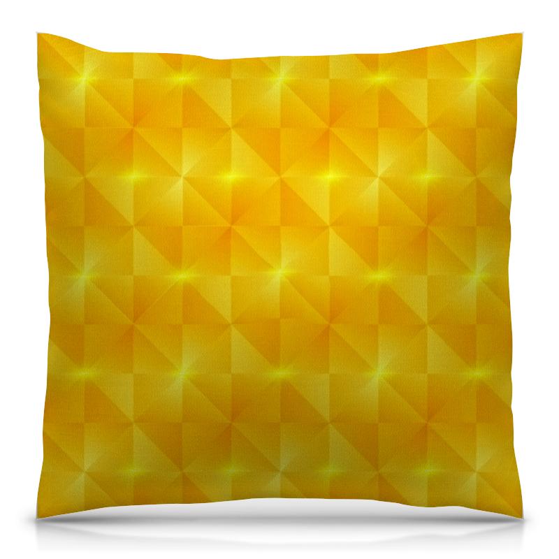 Подушка 40х40 с полной запечаткой Printio Желтые квадраты отжимная швабра бабочка с пва насадкой