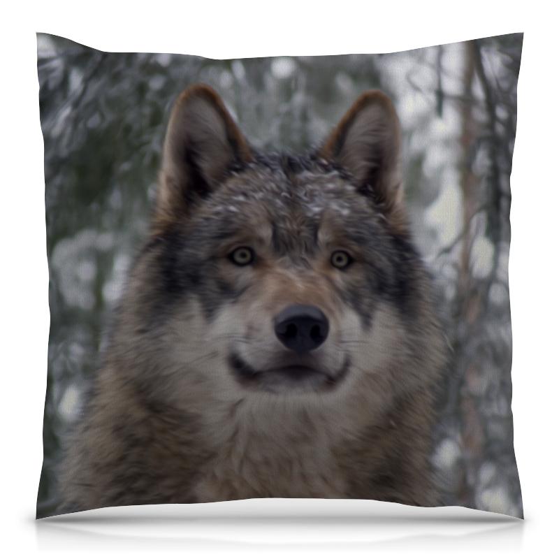 Подушка 40х40 с полной запечаткой Printio Волк в лесу чехол для ноутбука 14 printio волк в лесу