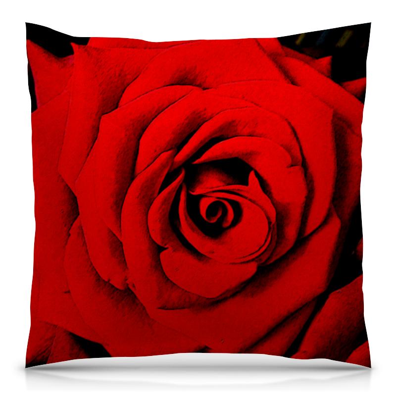 Подушка 40х40 с полной запечаткой Printio Красная роза 3d головоломка роза красная 90113