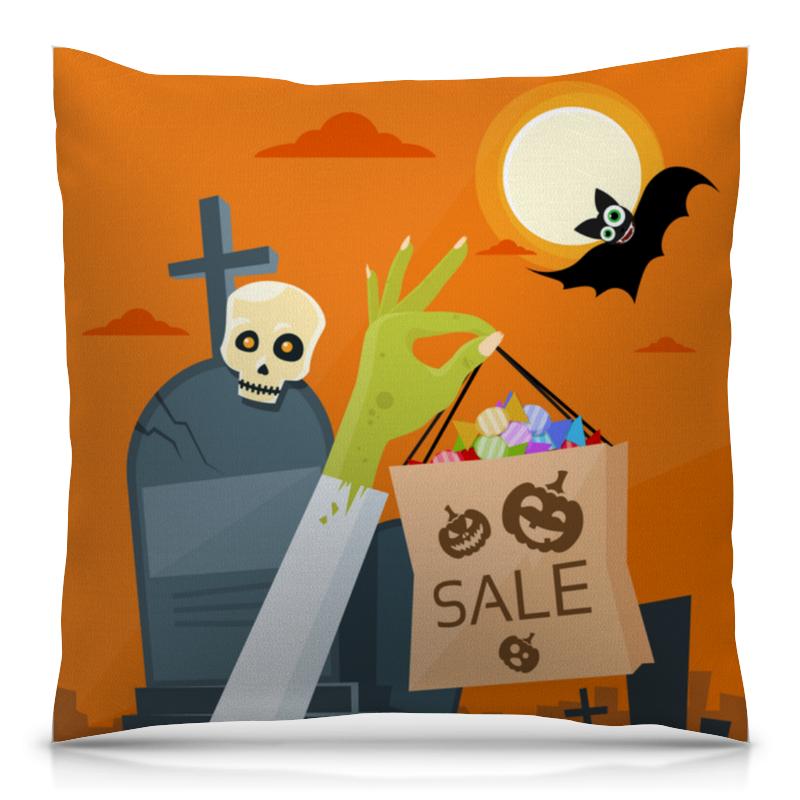 Подушка 40х40 с полной запечаткой Printio Ночь хэллоуина