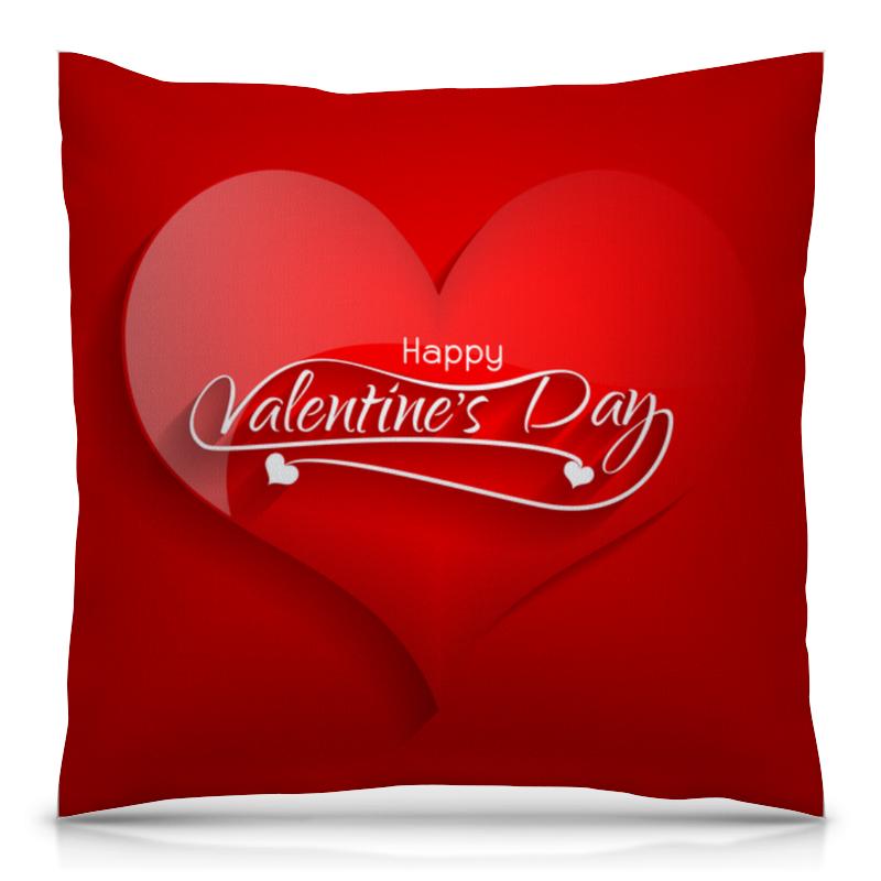 Printio День влюблённых подушка 40х40 с полной запечаткой printio маугли