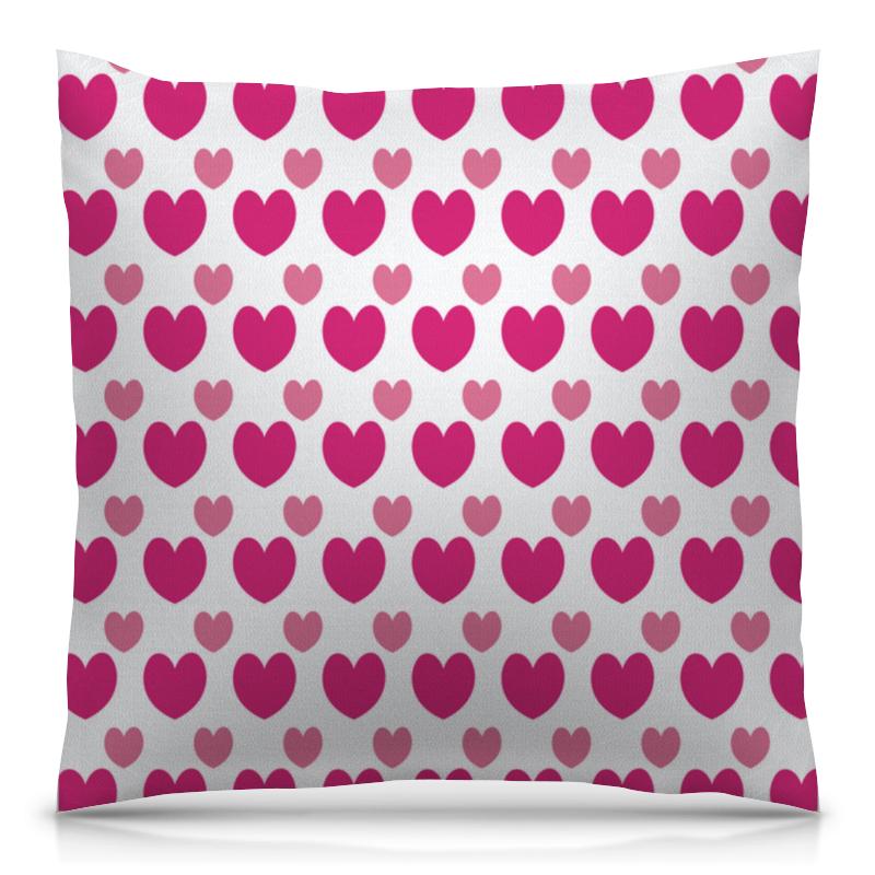 Подушка 40х40 с полной запечаткой Printio Розовые сердечки стул tetchair компьютерный розовые сердечки
