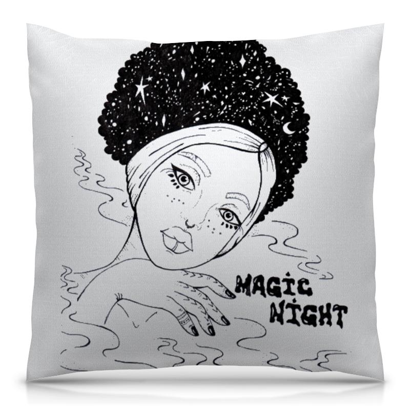 Подушка 40х40 с полной запечаткой Printio Magic night / волшебной ночи дополнительные детали для волшебной трассы top shop magic tracks