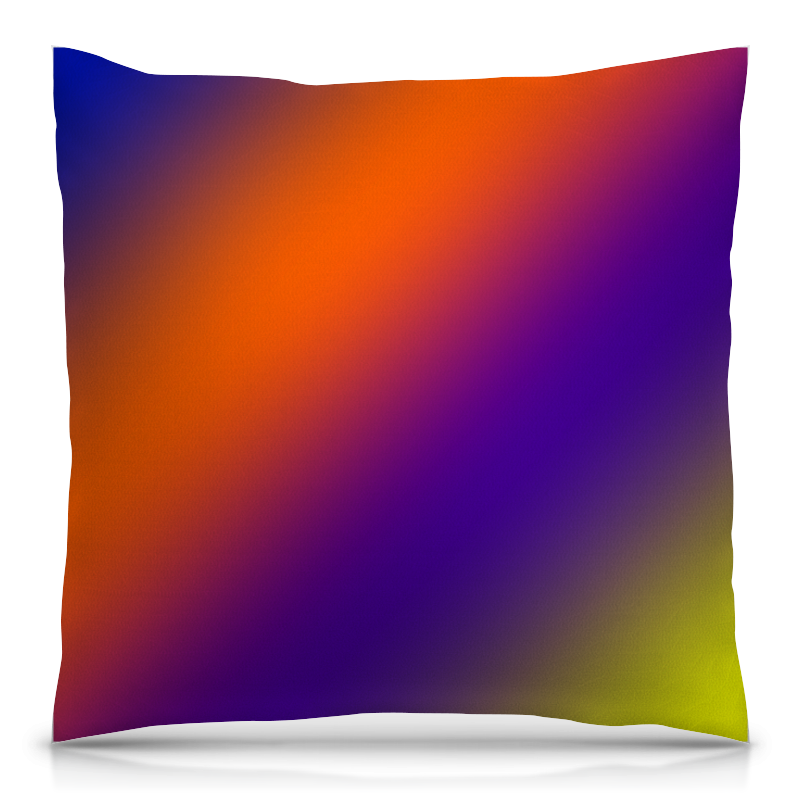 Подушка 40х40 с полной запечаткой Printio Градиент красок борцовка с полной запечаткой printio градиент красок