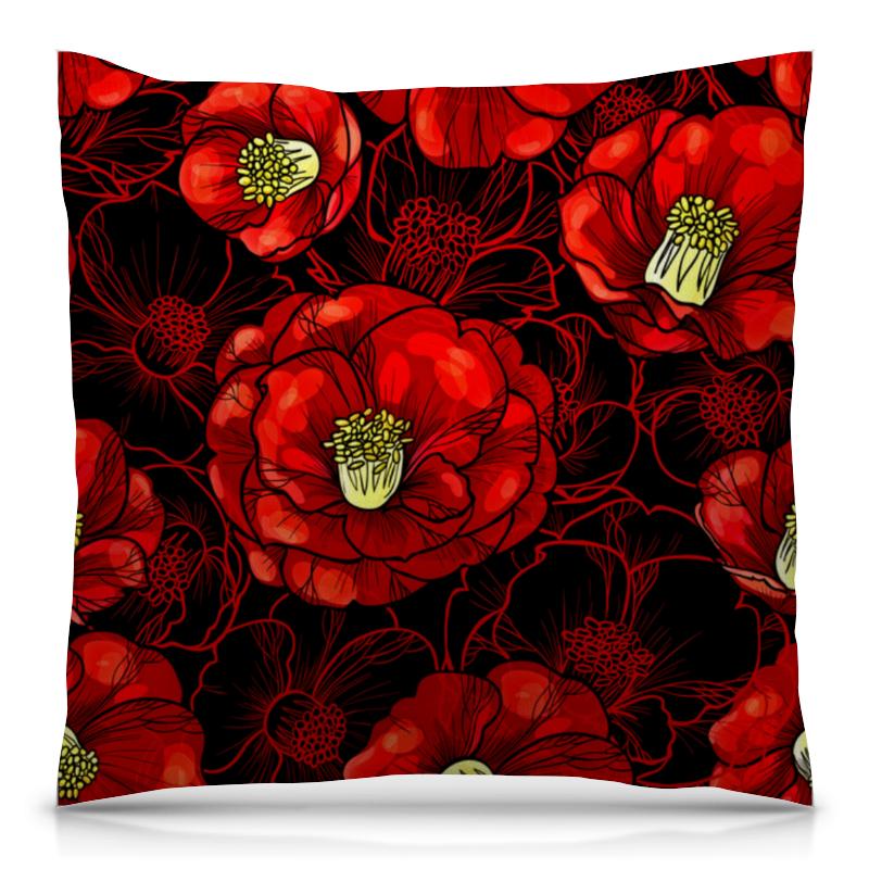 Подушка 40х40 с полной запечаткой Printio Цветы мака борцовка с полной запечаткой printio цветы мака