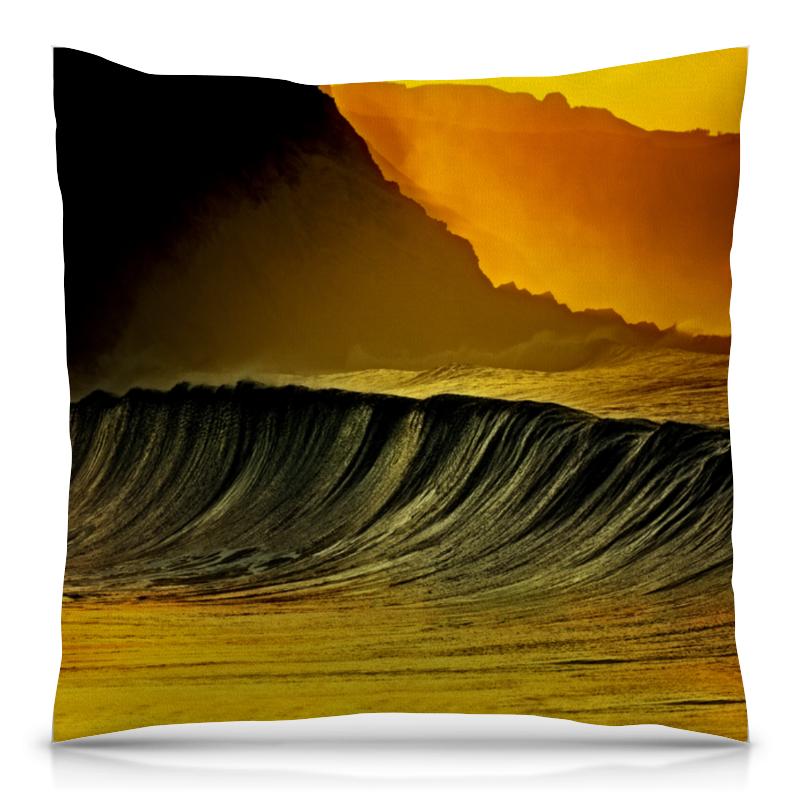 Подушка 40х40 с полной запечаткой Printio Волны моря