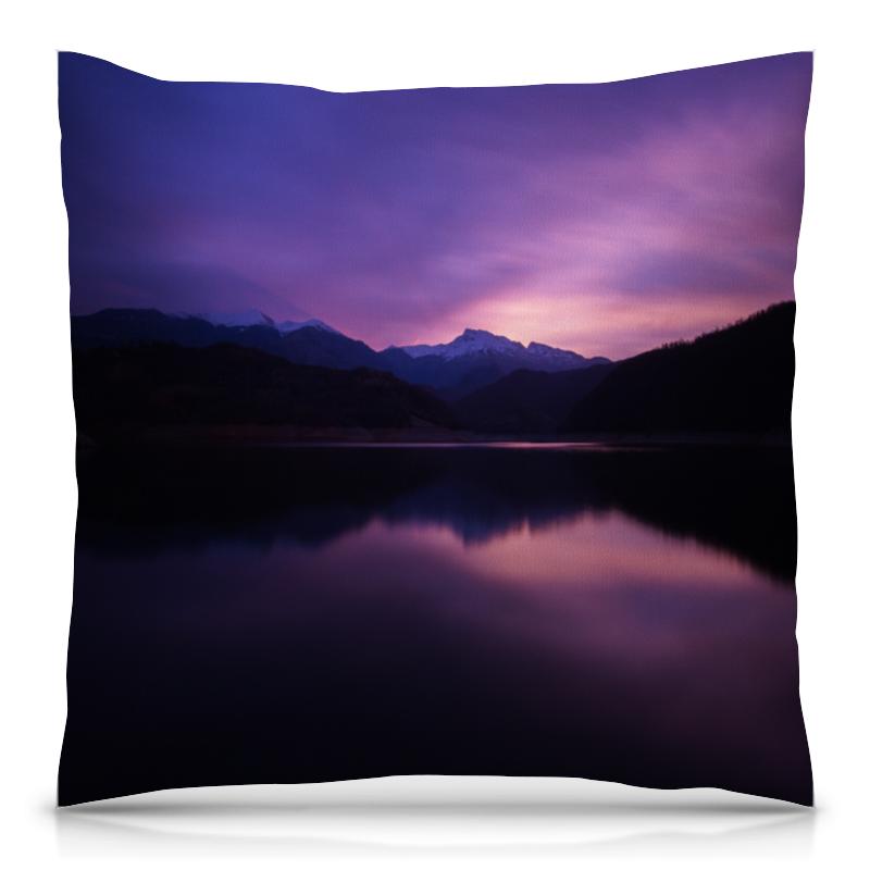 Подушка 40х40 с полной запечаткой Printio Фиолетовый пейзаж