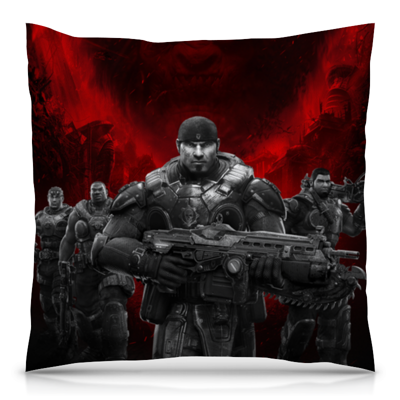 Подушка 40х40 с полной запечаткой Printio Gears of war геймпад игра microsoft xbox one wireless controller gears of war ultimate edition