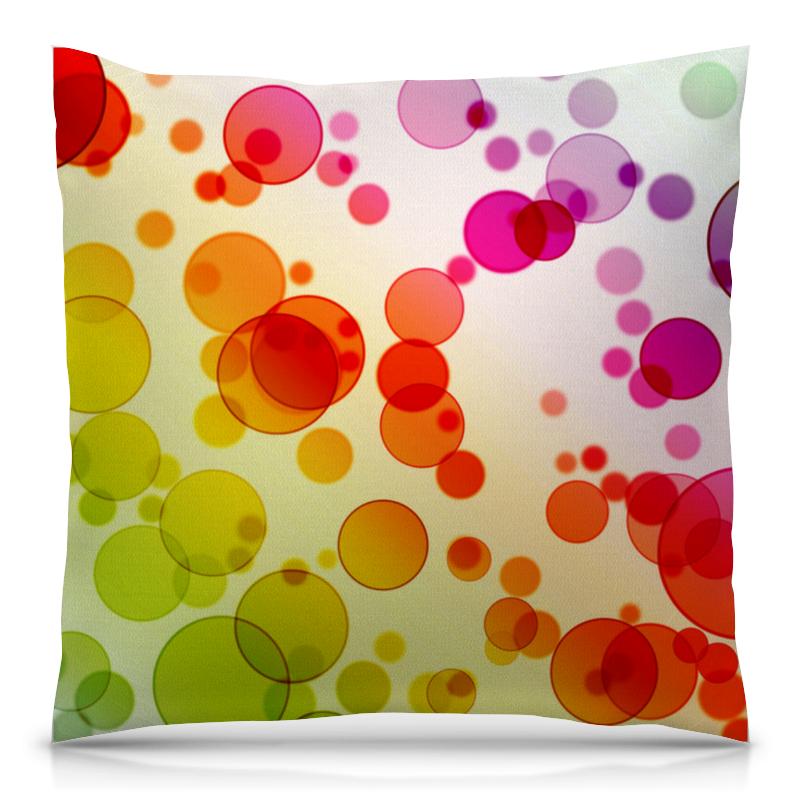 Подушка 40х40 с полной запечаткой Printio Разноцветные круги подушка 40х40 с полной запечаткой printio блестящие круги