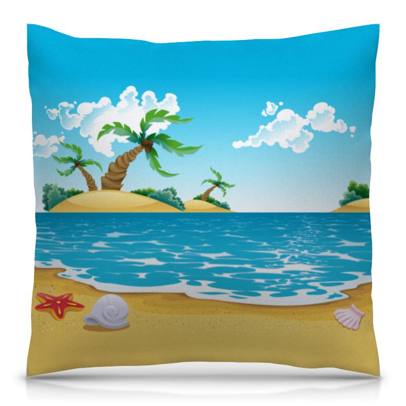 Подушка 40х40 с полной запечаткой Printio Летний отдых футболка с полной запечаткой для девочек printio летний отдых