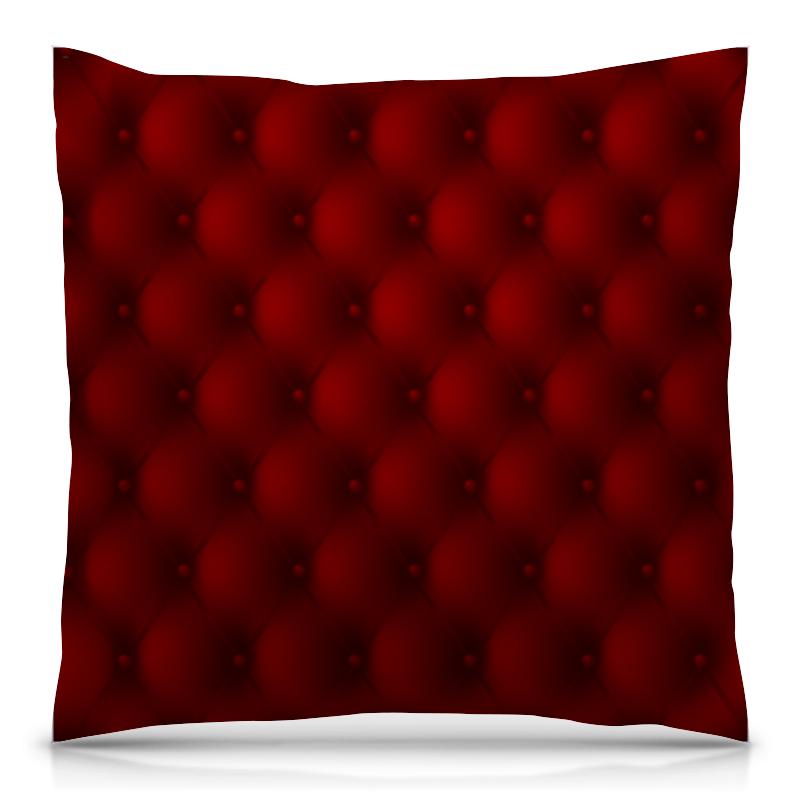 Подушка 40х40 с полной запечаткой Printio Красная