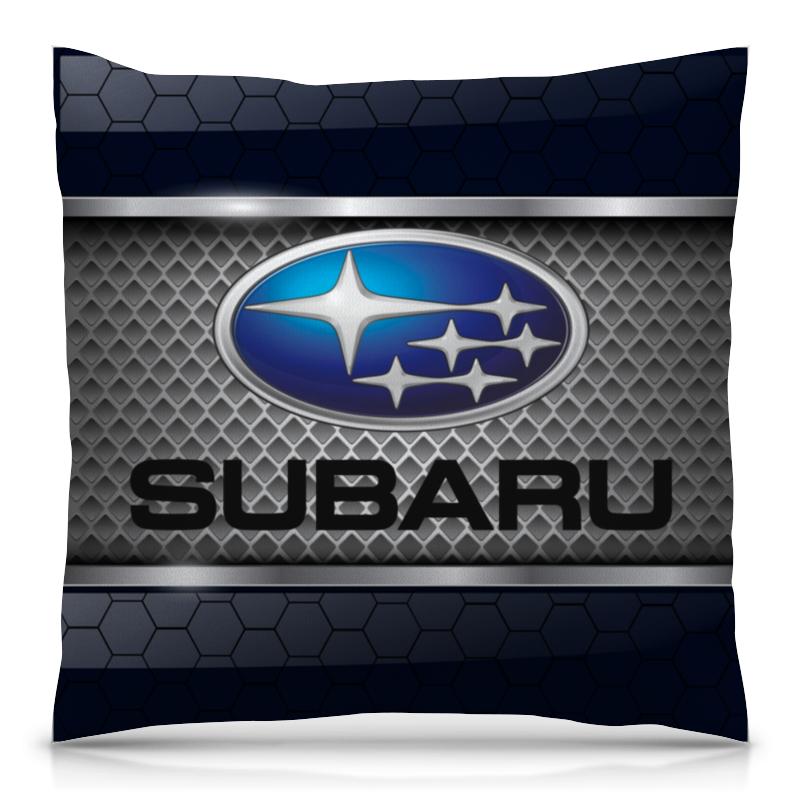 Подушка 40х40 с полной запечаткой Printio Subaru молдинги subaru 15