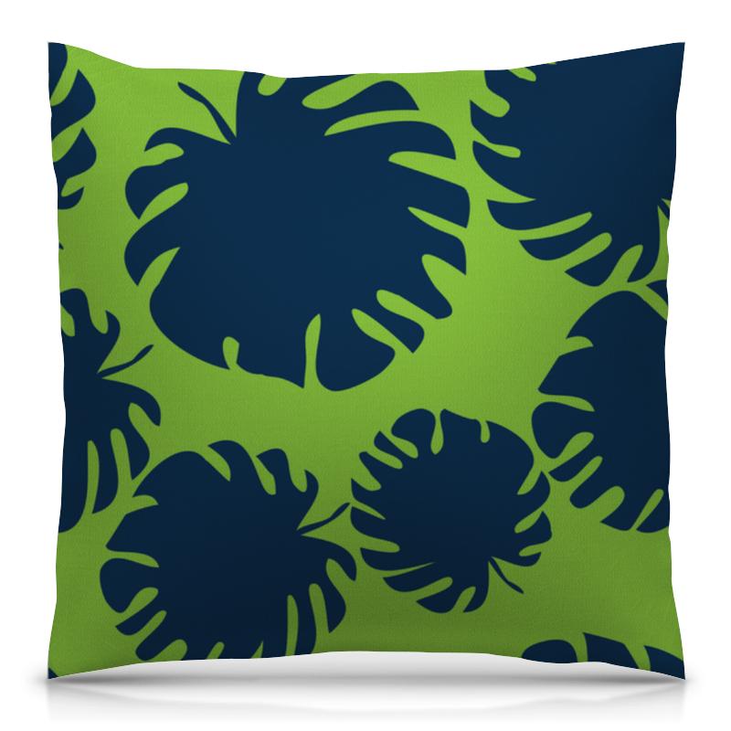 Подушка 40х40 с полной запечаткой Printio Тропические листья