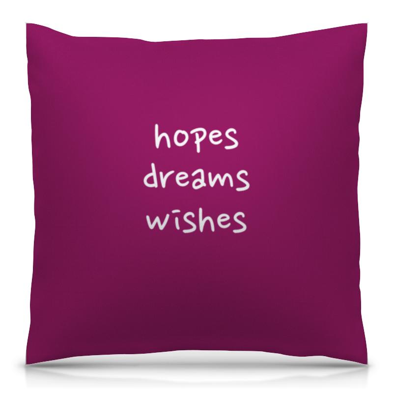 Подушка 40х40 с полной запечаткой Printio Hopes, dreams, wishes christmas wishes