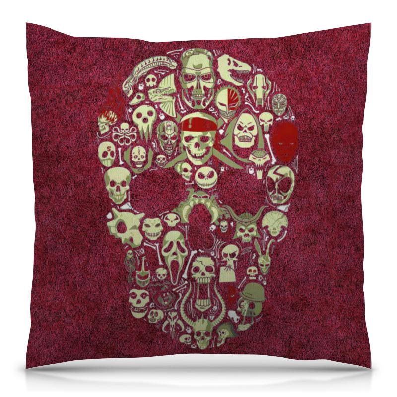 Подушка 40х40 с полной запечаткой Printio Skull art