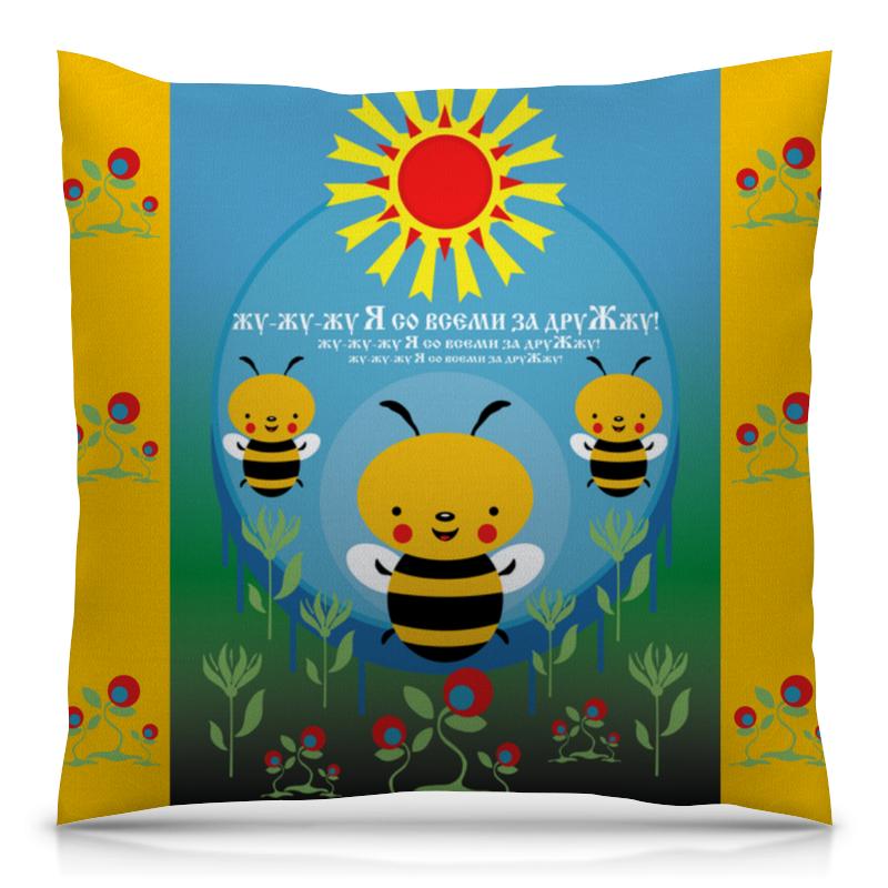 Подушка 40х40 с полной запечаткой Printio Пчелка жужа ковер жужа 1000 1500мм