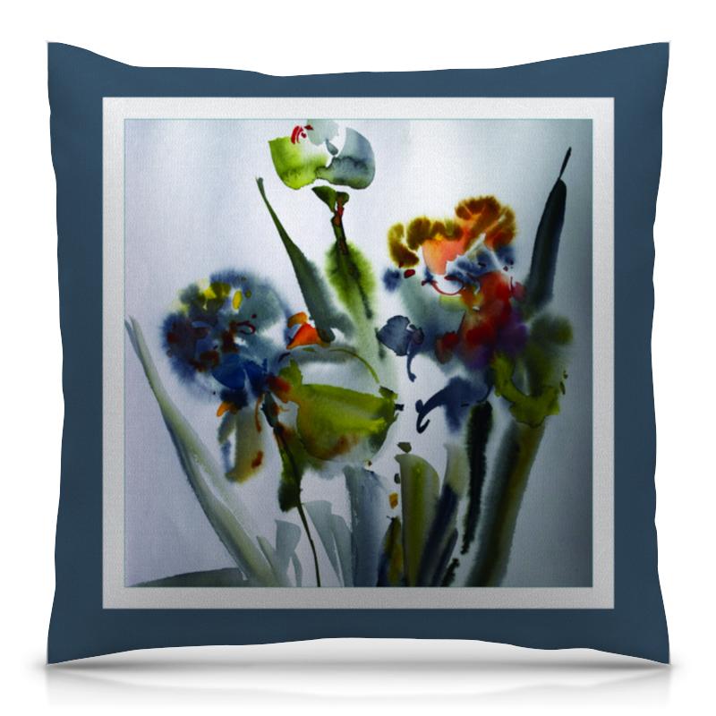 Подушка 40х40 с полной запечаткой Printio Весенние цветы