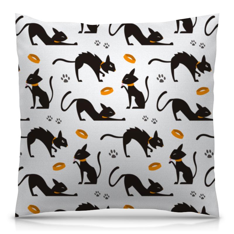 Подушка 40х40 с полной запечаткой Printio Чёрные кошки все цены