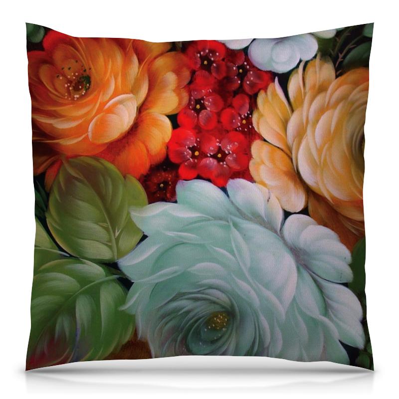 Подушка 40х40 с полной запечаткой Printio Colorfull flowers футболка с полной запечаткой женская printio colorfull triangle