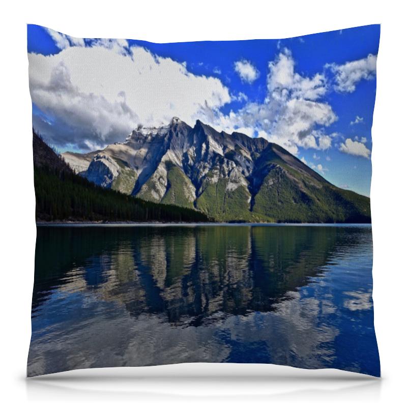 Подушка 40х40 с полной запечаткой Printio Горы у берега никита павлов картина у берега