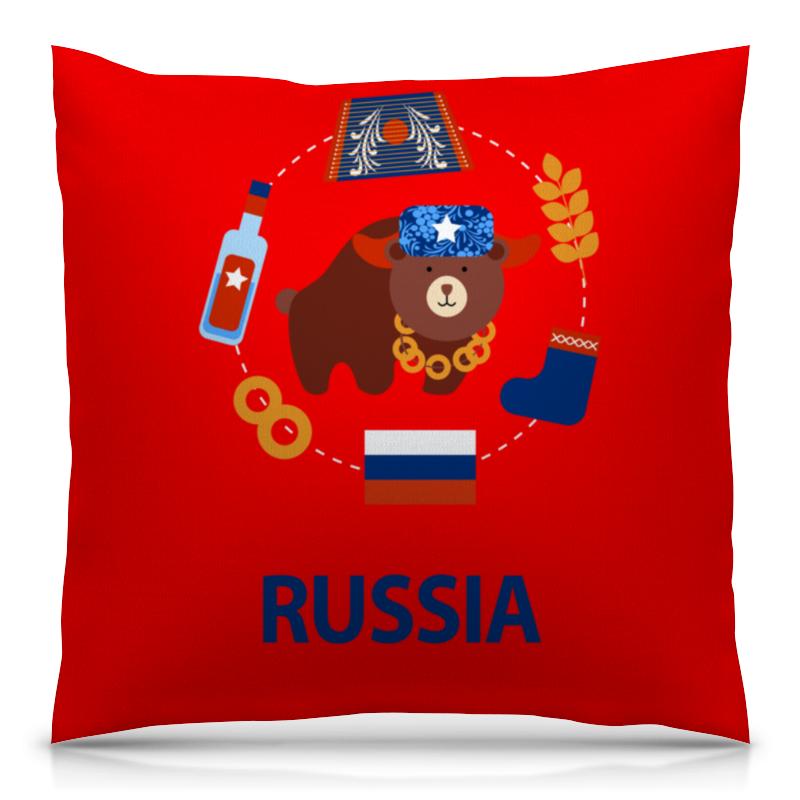 Подушка 40х40 с полной запечаткой Printio Россия (russia) подушка printio россия