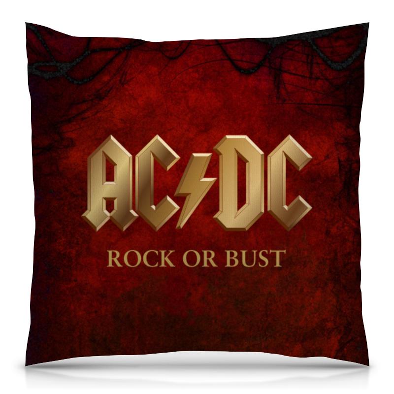 Подушка 40х40 с полной запечаткой Printio Ac/dc ac dc ac dc rock or bust