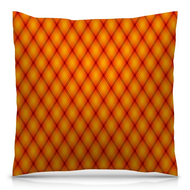 Printio Клетка оранжевая подушка 40х40 с полной запечаткой printio клетка хипстера