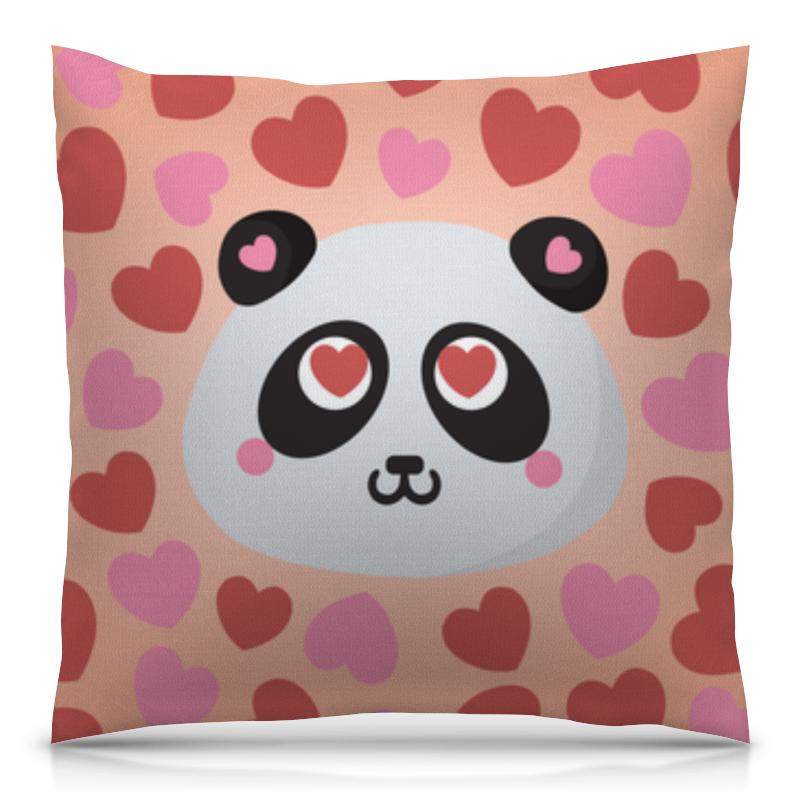 Подушка 40х40 с полной запечаткой Printio Влюбленная панда позиционеры для сна candide позиционер с подголовником воздухопроницаемая панда air