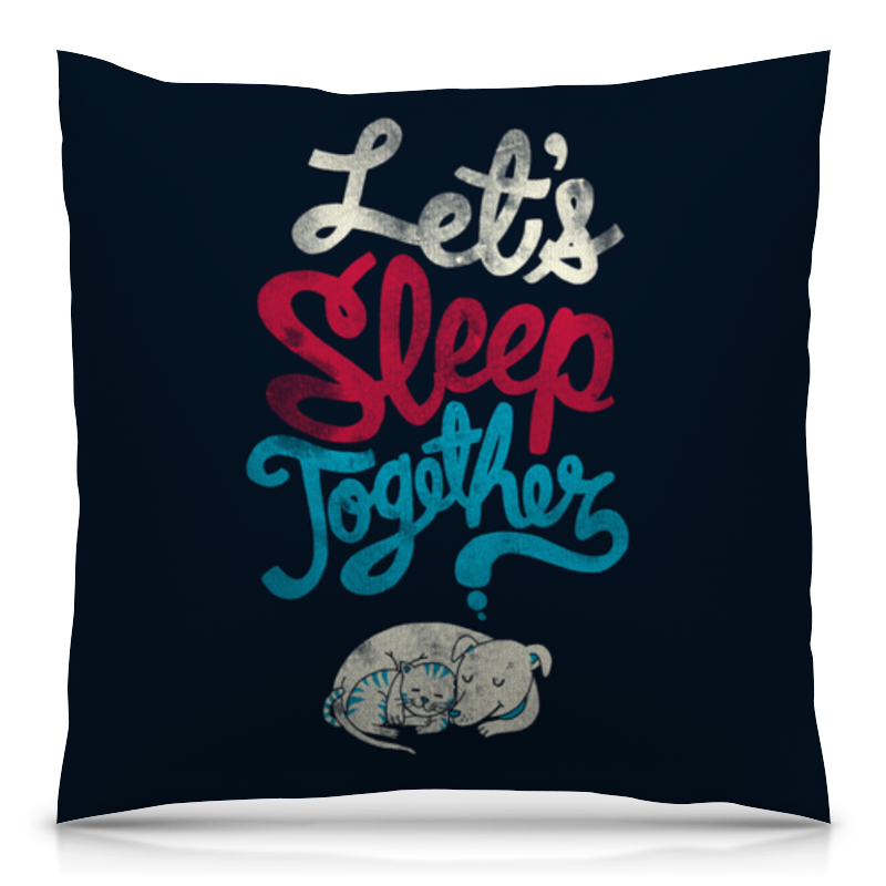 Подушка 40х40 с полной запечаткой Printio Let's sleep together подушка sleep professor white label love m