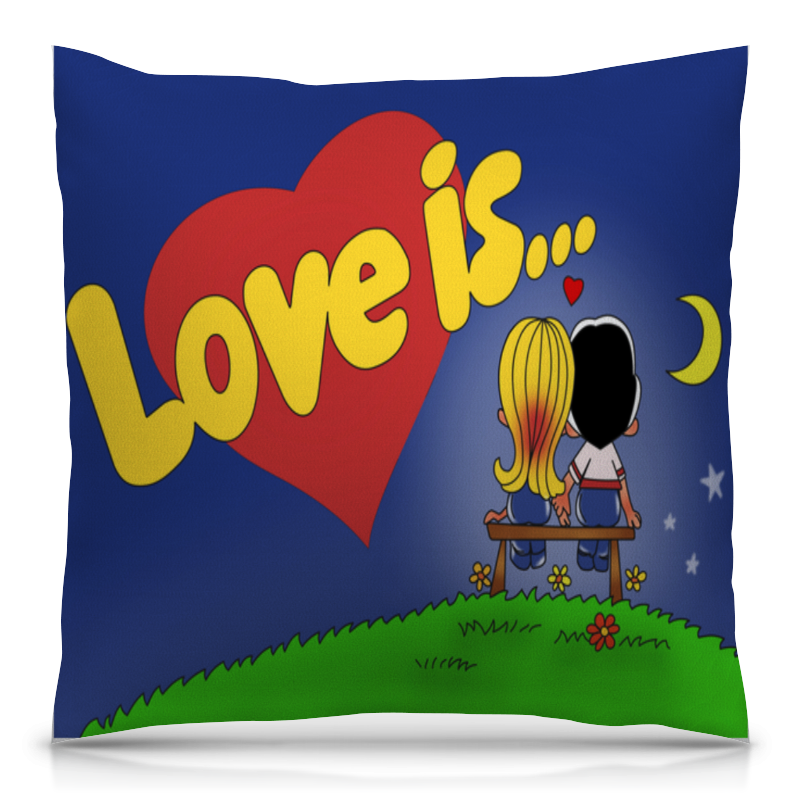 Подушка 40х40 с полной запечаткой Printio Love is