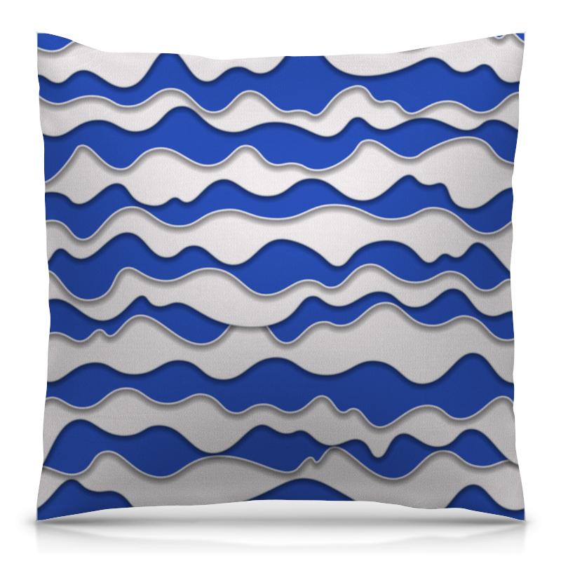 Подушка 40х40 с полной запечаткой Printio Абстрактные волны подушка для беременных lejoy relax рыбки на голубом фоне rl 1010