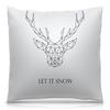 """Подушка 40х40 с полной запечаткой """"Dear Deer"""" - рисунок, дизайн, олень, минимализм, рога"""