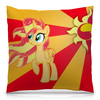 "Подушка 40х40 с полной запечаткой ""Sunset Shimmer Color Line"" - sun, cutiemark, sunset shimmer"