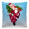 """Подушка 40х40 с полной запечаткой """"С Новым Годом! (Хрюша)"""" - новый год, зима, символ нового года, дед мороз, хрюша"""