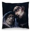 """Подушка 40х40 с полной запечаткой """"Монах, разговаривающий с женщиной (Гойя)"""" - картина, живопись, гойя"""