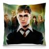 "Подушка 40х40 с полной запечаткой ""Гарри Поттер"" - корона, гарри поттер, волшебство, гермиона, хогвардс"