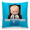 """Подушка 40х40 с полной запечаткой """"Босс-молокосос / The Boss Baby"""" - рисунок, кино, мультфильм, босс, малыш"""