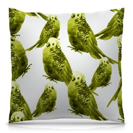 """Подушка 40х40 с полной запечаткой """"Попугаи"""" - попугаи, птицы, животные, попугай, птички"""