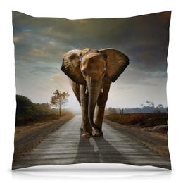 """Подушка 40х40 с полной запечаткой """"Слон 3D"""" - слон"""
