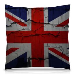 "Подушка 40х40 с полной запечаткой ""Британский Флаг"" - англия, great britain, флаг великобритании"