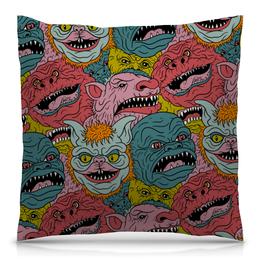 """Подушка 40х40 с полной запечаткой """"Monsters"""" - арт, дизайн, графика, рисунок, стиль"""