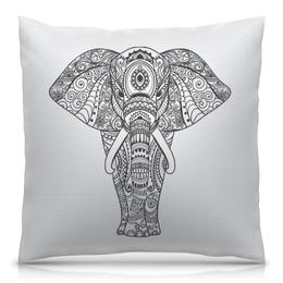 """Подушка 40х40 с полной запечаткой """"Индия"""" - узор, животные, слон, роспись, индия"""