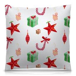 """Подушка 40х40 с полной запечаткой """"новый год"""" - конфеты, новый год, подарки, рождество, christmas"""