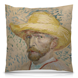 "Подушка 40х40 с полной запечаткой ""Винсент ван Гог (автопортрет)"" - картина, ван гог, живопись"