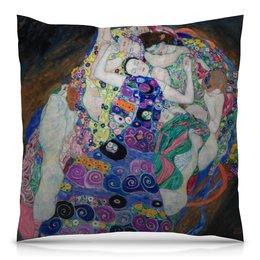 """Подушка 40х40 с полной запечаткой """"Дева (Невинность) (Густав Климт)"""" - арт, картина, живопись, климт"""